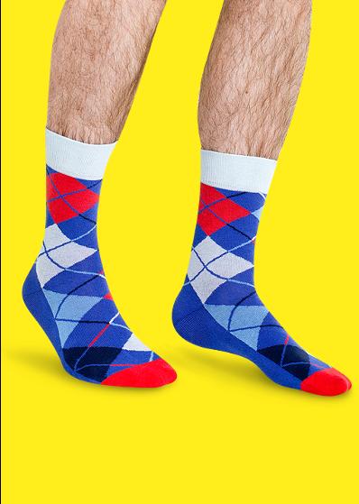 204547cf636 ... Цветные носки JNRB  Носки Русские ромбы ...
